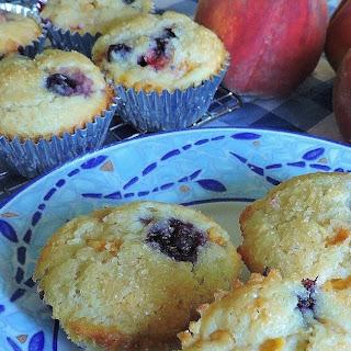 Peach Blueberry Muffins