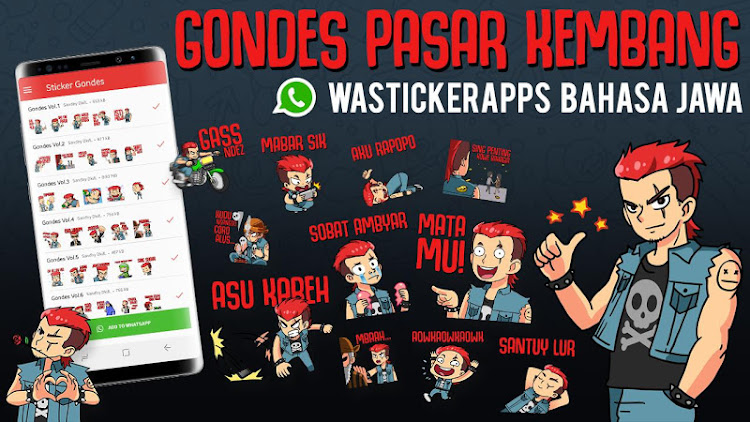 Gondes Sticker Jawa Lucu Wastickerapps Android Apps Appagg