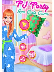 PJ Party Spa Girl Game! Beauty Spa and Makeup! - náhled