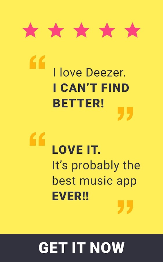 Deezer: Music Player. Play, Download any Song, MP3 – snímek obrazovky
