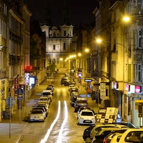 Poland, Poznan by night by Robert  Płóciennik - City,  Street & Park  Night ( poznan, street, night, city, poland, #chooseyourmood, city at night, street at night, park at night, nightlife, night life, nighttime in the city )