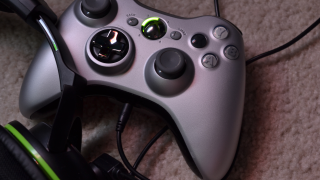 Close up of Xbox controller
