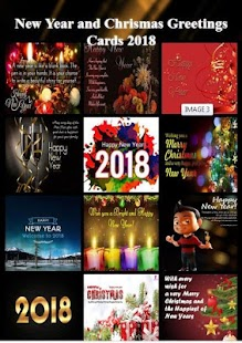 New Year and Chrismas Greetings Cards 2018 - náhled
