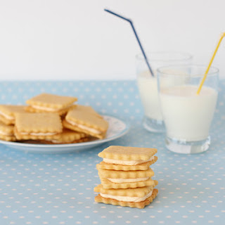 Custard Cream Biscuits.