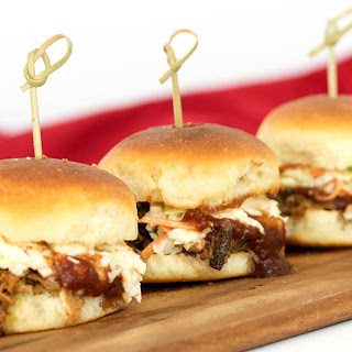 Instant Pot Pulled Pork Sliders with Bourbon Infused Barbecue Sauce.