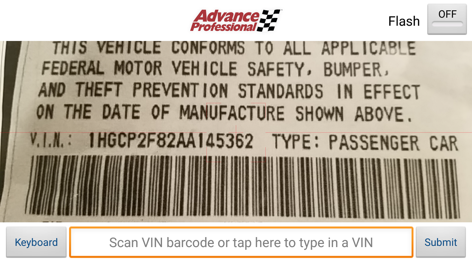 Advance Professional VIN Scan - Android Apps on Google Play