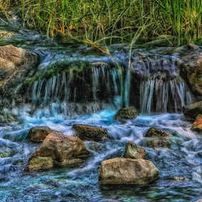 Where the water falls by Deb Bulger - Landscapes Waterscapes ( nature, hdr, waterscape, waterfall, landscape,  )