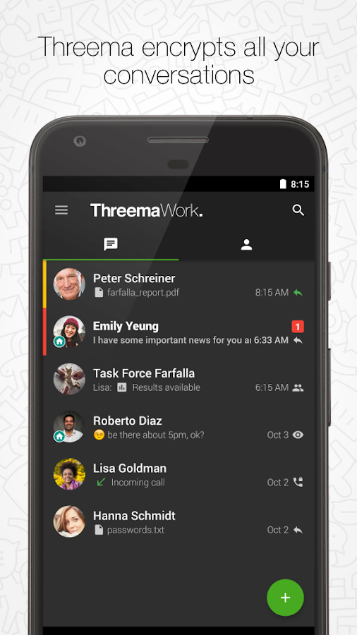 Threema Work- screenshot