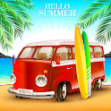 Car Simulator Miami Beach Summer Party icon
