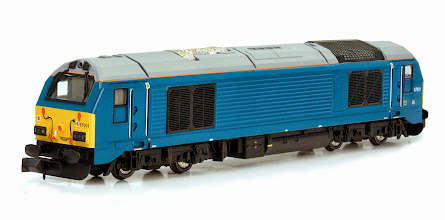 Photo: 2D-010-003  Class 67 DVT Coach Set