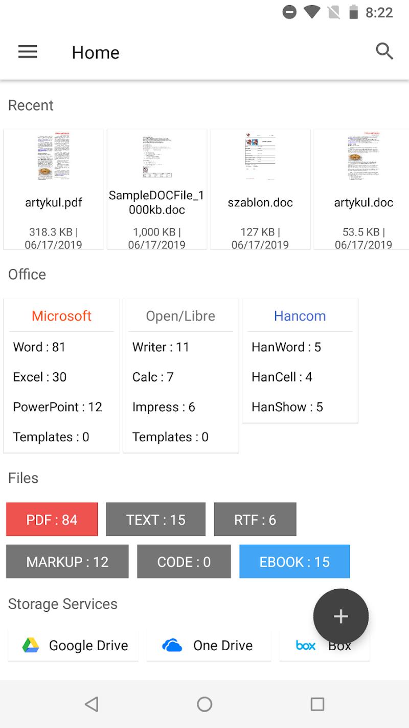 N Docs - Office, Pdf, Text, Markup, Ebook Reader Screenshot 1