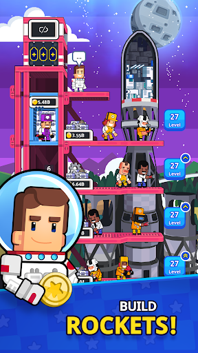 Rocket Star - Idle Space Factory Tycoon Games 1.22.1 APK MOD screenshots 2