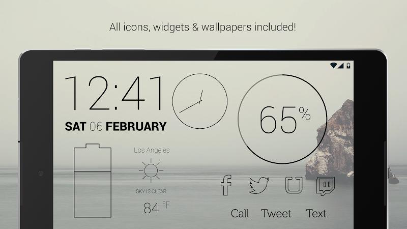 Lines Dark - Flat Black Icons (Pro Version) Screenshot 8