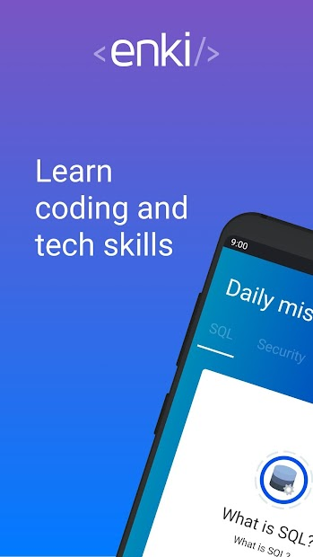 Enki: Learn data science, coding, tech skills Android App Screenshot