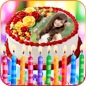 Photos on Birthday Cakes - Cake with name & photo icon