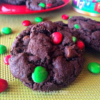Chocolate Cake Mix Cookies for Christmas