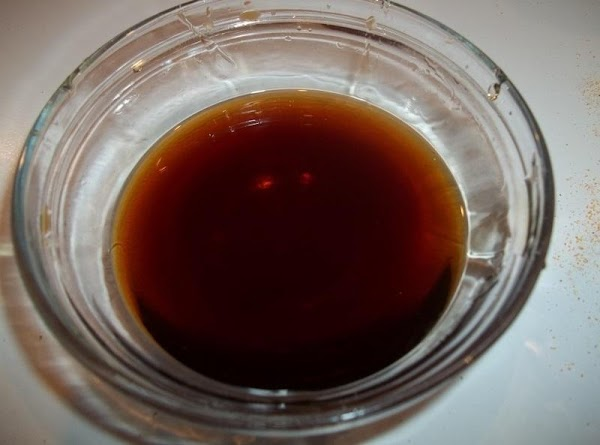 Mix your soy sauce and honey.