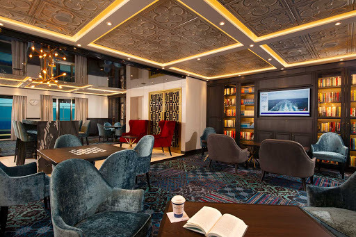 Choose Carnival Panorama's Library when you want a quiet place to read or enjoy a game of chess or backgammon with a friend.