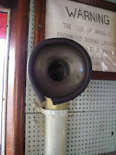 Photo: The Mary Whalen's intercom system - speaking tubes!