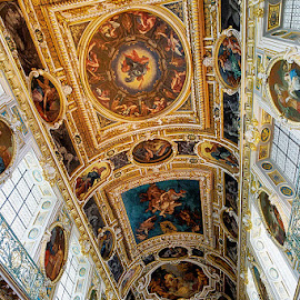 Ceiling by Radu Eftimie - Buildings & Architecture Public & Historical ( fontainebleau, ceiling, castle, france )