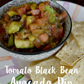 Tomato Black Bean Avocado Dip Recipe