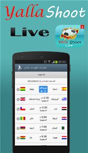 Broadcast live matches - náhled