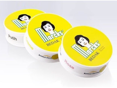 bedak marcks lembut ringan aman nyaman dipakai untuk segala usia dan jenis kulit