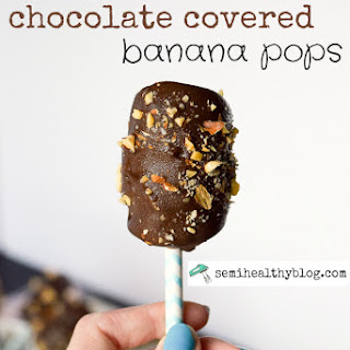 Frozen Banana Pops Covered in Chocolate