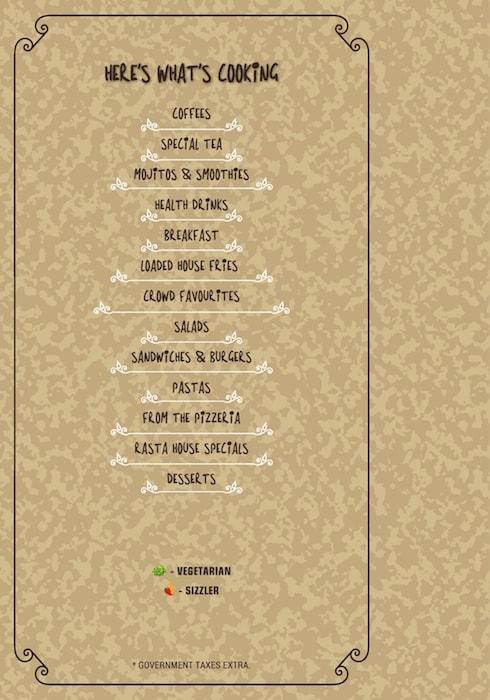 Rasta Cafe menu 4
