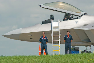 "Photo: ""Raptor"" F-22 Demonstration Team"