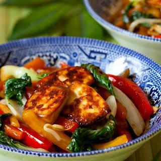 Sheet Pan Asian Tofu and Vegetable Stir Fry.
