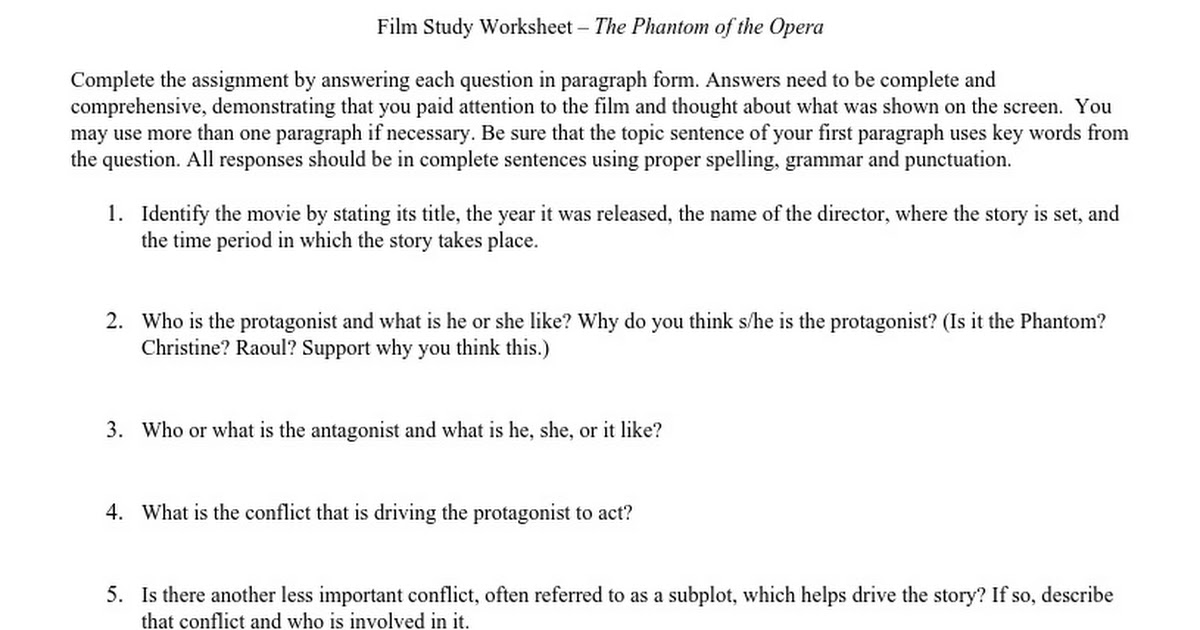 filmstudyworksheetdoc Google Docs – Film Study Worksheet