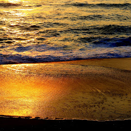 Waters by Gil Reis - Nature Up Close Water ( waves, places, nature, sunset, water, sea, life )