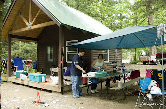 Photo: Dawn Jewell or Corrinth, NY camps with her kids at Half Moon State Park. Photo by Karen Pike