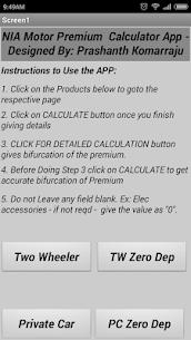 NIA Motor Premium Calculator Apk Latest Version Download For Android 1