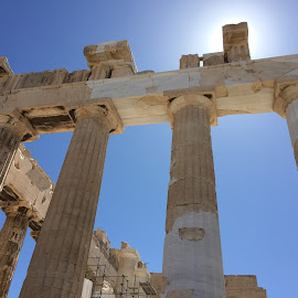 Parthenon  by John Koidis - Buildings & Architecture Public & Historical ( oldworld, greece, ruins, parthenon, vacation, athens, sun )