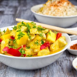 Easy Coconut Mango Chicken.