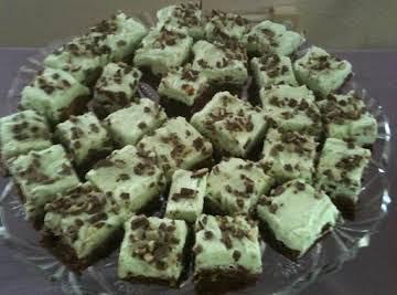 One Bowl Irish Mint Walnut Brownies