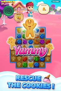 Sweet Road: Cookie Rescue Free Match 3 Puzzle Game Screenshot