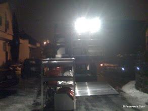 Photo: Unser Pionierfahrzeug mit dem Wasserwehrmodul im Vordergrund.