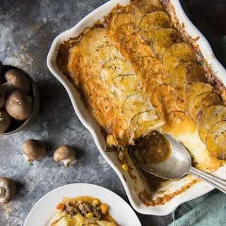 Scalloped Potato Beef and Mushroom Shepherd'S Pie Recipe