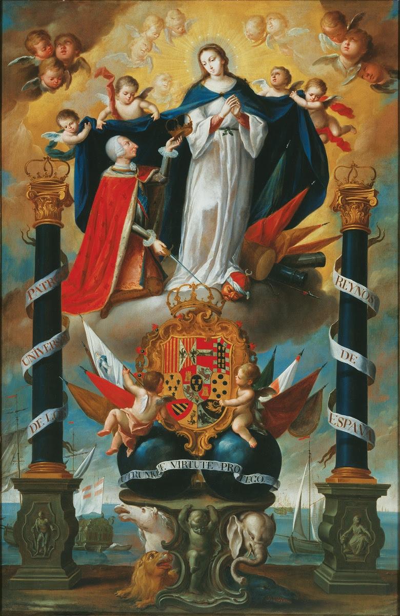 Alegoría De La Consagración De Los Reinos De España A La Inmaculada Concepción De María Anónimo Italiano Google Arts Culture