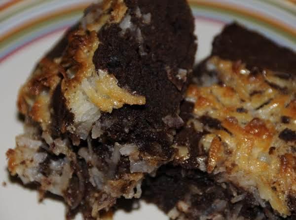 Choc-coconut Brownies