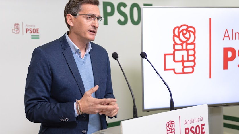 José Luis Sánchez Teruel, secretario provincial del PSOE de Almería.