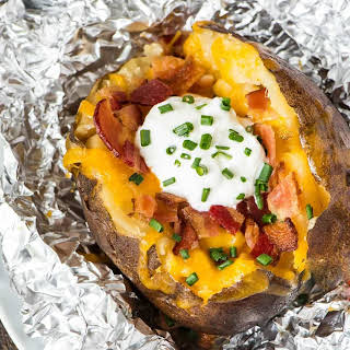 Crock Pot Baked Potatoes.