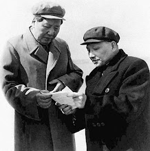 Photo: China's senior leader Deng Xiaoping, right, and the Chairman Mao Tse-tung look over papers in Bejing in this photo dated 1959. (AP Photo/Kyodo News)