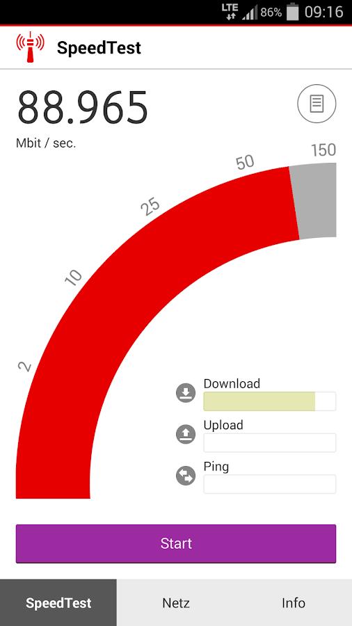 Vodafone SpeedTest- screenshot