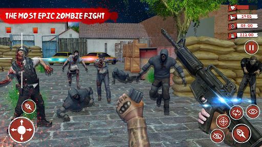 Télécharger Zombie Target Death Survival Dead Shooting Games  APK MOD (Astuce) screenshots 1