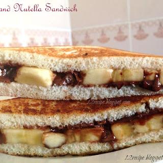 Banana and Nutella Sandwich.