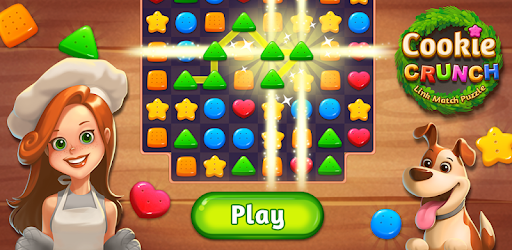 Connect the same coloured cookie to make a delicious chain!